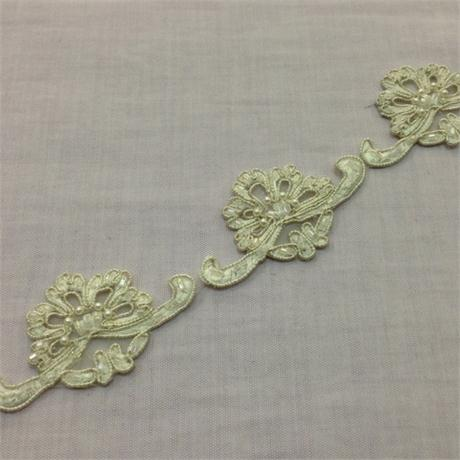 Beaded Embroidered Trim Image 1