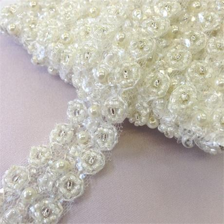 Pearl and Sequin Trim Image 1