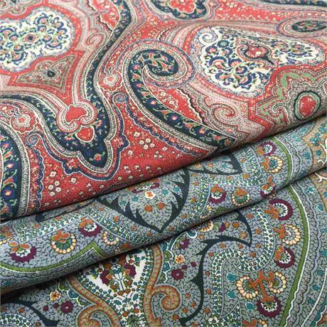 Paisley Printed Silk Crepe de Chine Image 1