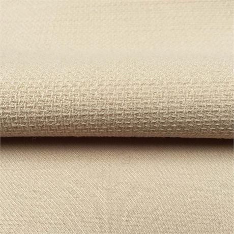Textured Wool Double Cloth, Beige Image 1