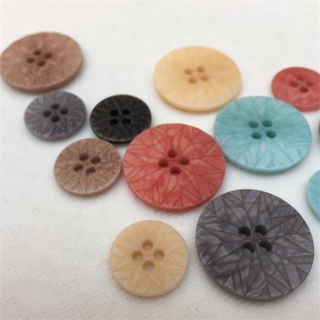 4-Hole Corozo Stone Wash Button Image 1