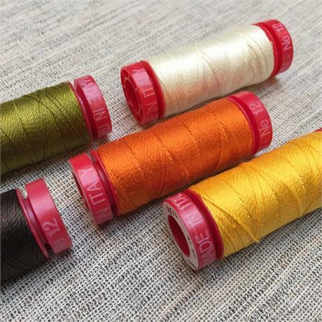 Aurifil 12 WT Cotton Thread - 50m Spools Image 1