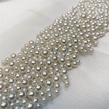 Multi Size Pearl Beaded Trim Image 1
