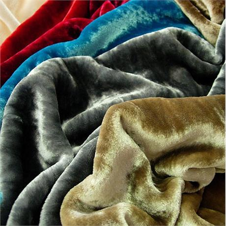 Ivory Long Pile Silk Velvet Image 1