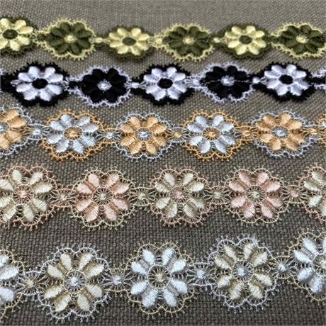 Italian Viscose/Polyester Macrame Flower Trim Image 1