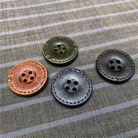 Italian 4-Hole Imitation Leather Button Image 1