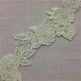 Beaded Embroidered Velvet Trim thumbnail
