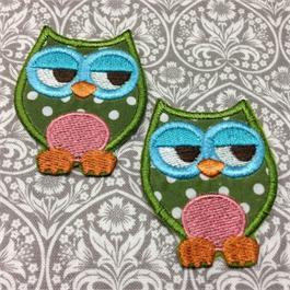 Fusible Green Owl Motif thumbnail