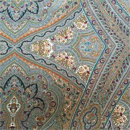 Paisley Printed Silk Crepe de Chine Thumbnail Image 1