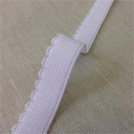 White Picot Edge Lingerie Elastic Thumbnail Image 2