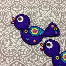 Fusible Purple Bird Motif thumbnail