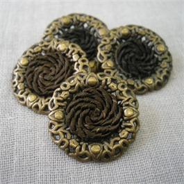 Decorative Metal and Braided Button thumbnail