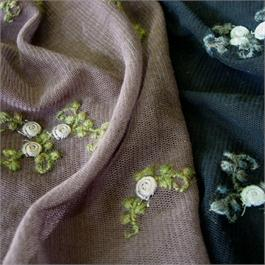 French Embroidered Cotton Tulle thumbnail