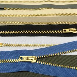 Rubi No.3 Brass Jeans Zip 15cm thumbnail