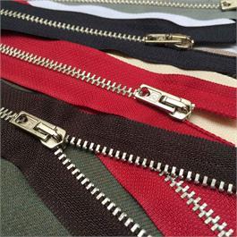 Rubi No3 White Brass Trouser Zip - 20cm thumbnail
