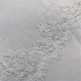 Fine French Pearl Beaded Lace Edging thumbnail
