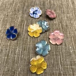 Enamelled Flower Button thumbnail