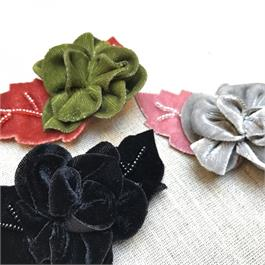 Velvet Sew-On Flower Applique thumbnail