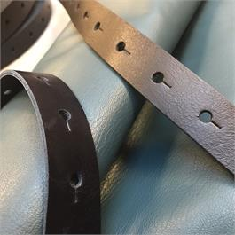 Leather Strapping with Punched Keyholes thumbnail