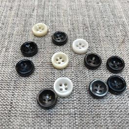 Italian Pearlised Polyester 4-Hole Shirt Button.  thumbnail