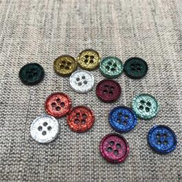 Italian Polyester Glitter Shirt Button thumbnail