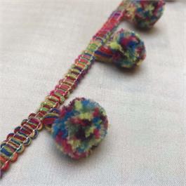Multi-Colour PomPom Fringe thumbnail