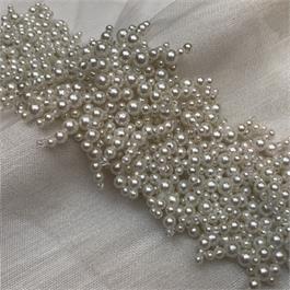 Fine Multi Pearl Beaded Insertion Trim thumbnail