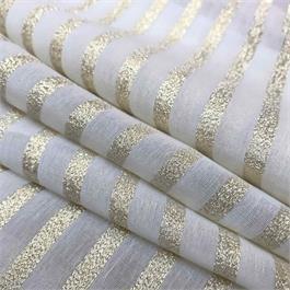 Metallic Gold Striped Silk thumbnail
