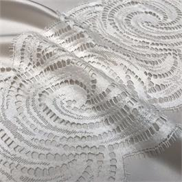 Wide French Cotton/Polyester Double Scallop Lace thumbnail