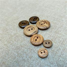 Natural Wooden 2-Hole Button thumbnail