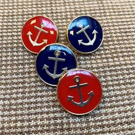 Italian Enamel Anchor Shank Buttons thumbnail