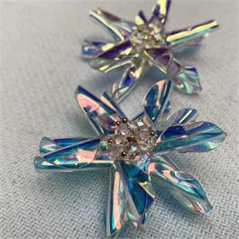Iridescent Beaded Plastic Sew-On Flower thumbnail