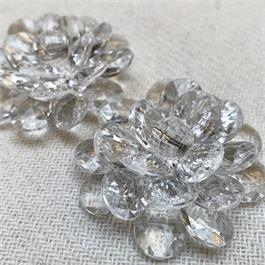 Transparent Beaded Plastic Sew-On Flower thumbnail