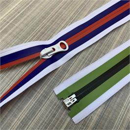 #7 Coil 3-Colour Stripe Open End Zip thumbnail