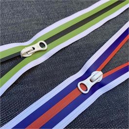 #7 Coil 3-Colour Stripe Closed End Zip thumbnail