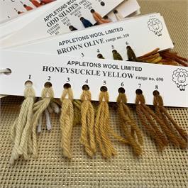 Appletons 4-ply Tapestry Wool Skein Honeysuckle Yellow - 10m thumbnail