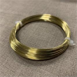 20m Coil of 0.40mm Non-Tarnish Brass Wire thumbnail