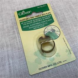 Clover Adjustable Ring Thimble with Plate thumbnail