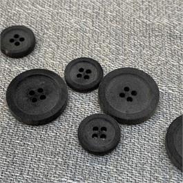Italian Sandblasted 4-Hole Horn Button thumbnail