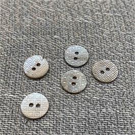 Italian Laser Engraved 2-Hole Shell Button thumbnail