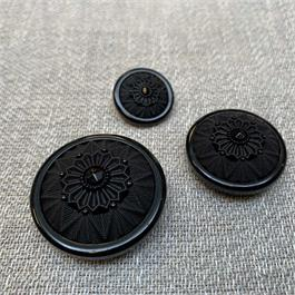 Italian Decorative Black Shank Button thumbnail