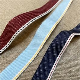 Italian Woven Denim Ribbon thumbnail