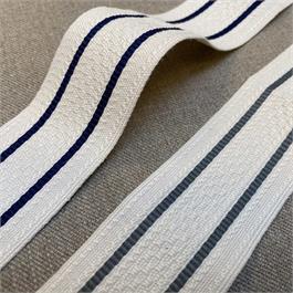 Italian Cotton/Polyester Woven Stripe Ribbon thumbnail