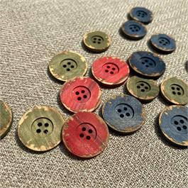 Painted Wooden Button thumbnail