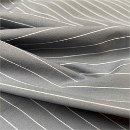 Grey Stretch Pinstriped Shirting thumbnail