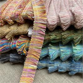 Multi Colour Cotton Fringe thumbnail