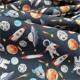 Spaceman & Rockets Printed Cambric thumbnail