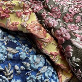 Floral Silk Mix Cloqué, Italian thumbnail
