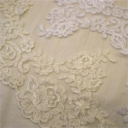 Embroidered Beaded Scalloped Edging 16cm thumbnail