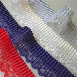 Pleated Ribbon Lace Trim 32mm thumbnail